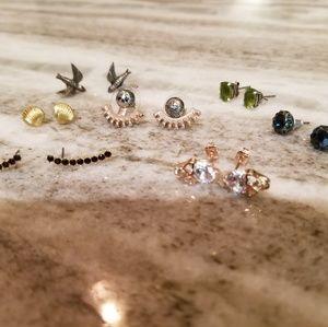 Lot of 7 Pairs of Stud Earrings